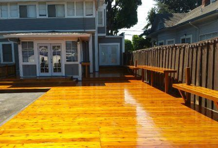 Hardwood Deck Sand and Finished